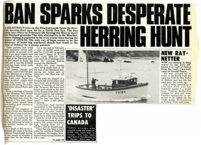 Commercial fishing: Looking back to 1977