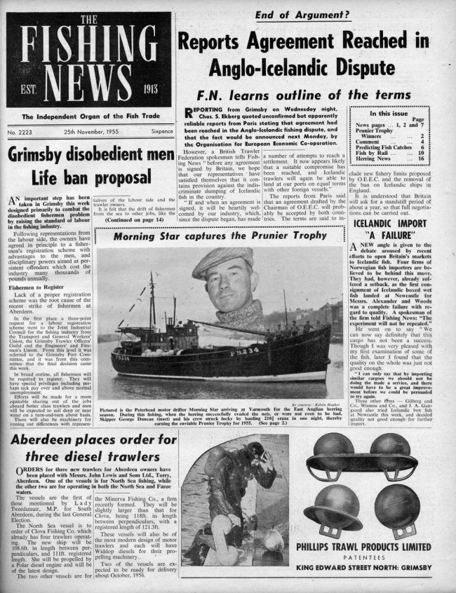 Commercial fishing: looking back to 1955