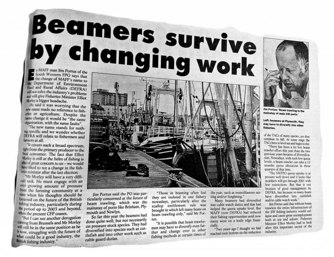 Commercial Fishing: Looking back to 2001