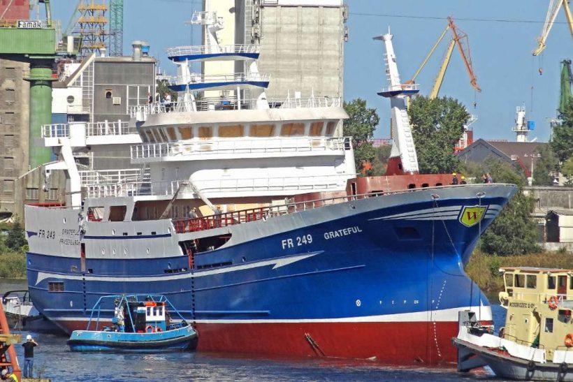 Grateful FR 249: Fraserburgh pelagic vessel launched in Poland