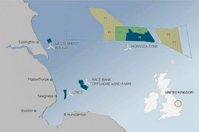 Wind farm off Yorkshire coast covers 154 sq miles