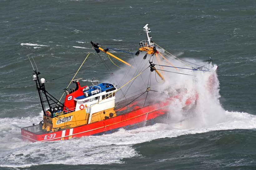 At sea on the Brixham beamer William of Ladram