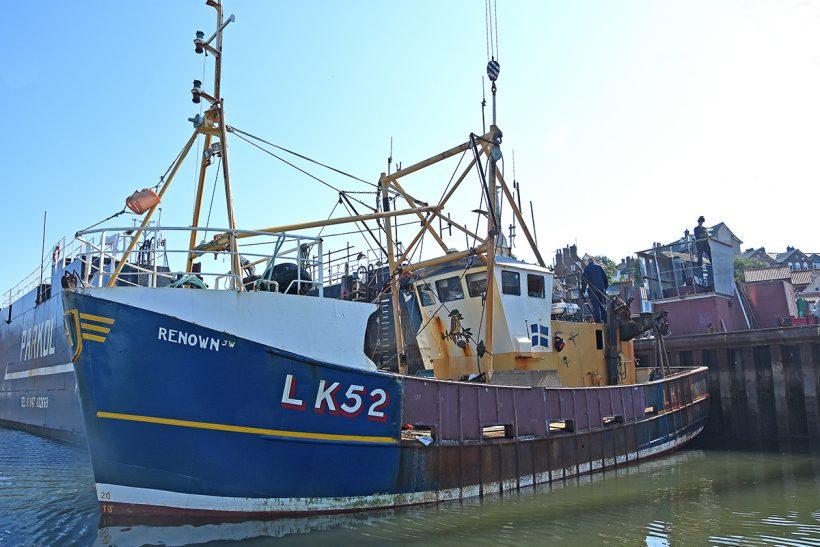 Skerries boat Renown JW LK 52 refurbished at Whitby