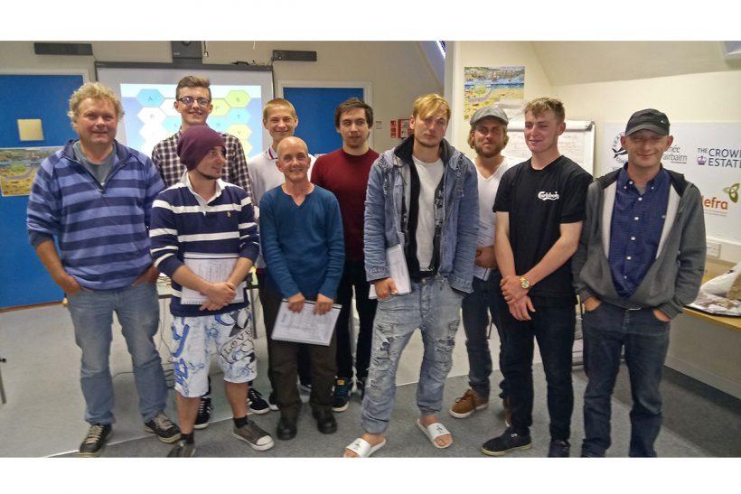Nine new fishermen join the Cornish workforce