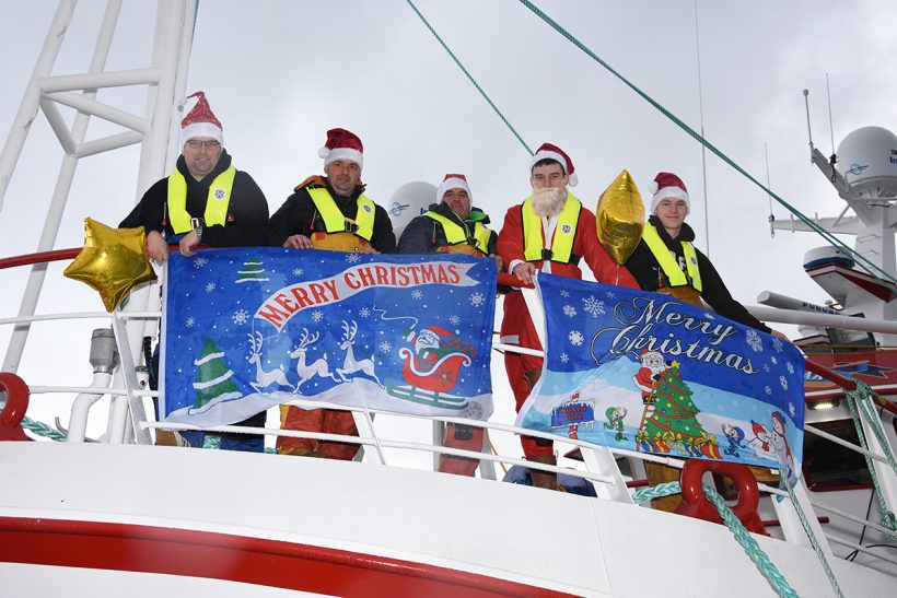Festive lights and spirit at Peterhead and Whitby
