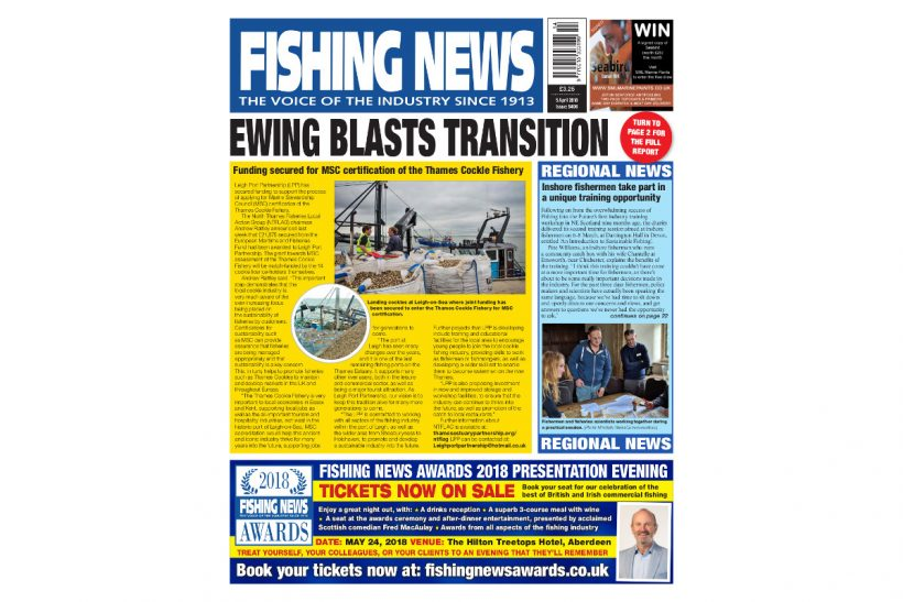 NEW ISSUE: FISHING NEWS 05.04.18