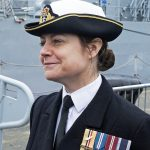 Commander Sarah Oakley RN, who is commander of the Fishery Protection Squadron.