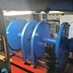 The two 12.5t split trawl winches supplied by Hercules Hydraulics.
