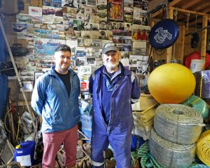 Father and son Robbie and John Gorman have three 12m boats working from Aberystwyth…