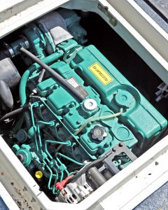 Rated as a commercial engine, the Volvo D2-75 came from Marine Engineering (Looe) Ltd.
