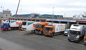 Lorries backed into Peterhead fishmarket, which will be demolished next month in the same week as the new whitefish landing hub opens in the North Harbour.