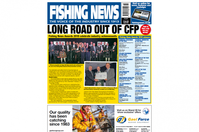 New issue: Fishing News 31.05.18