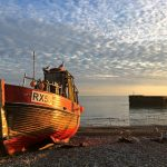 A tranquil scene on the beach at Hastings. (Guy Ellis)