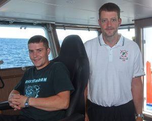 Tranquility skippers David 'Rodney' Reid and Stuart Anderson.