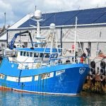 The Fraserburgh twin-rig trawler Ellorah BF 12 was the first boat to land to the new market in the North Harbour.