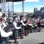 Portsoy Pipe Band kick-started proceedings on each morning of the festival.