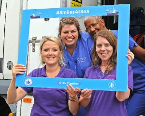 Smiles at Sea also gave a health check – for height, weight, body mass index, blood pressure and cholesterol – which was used to calculate the risk of developing heart disease, stroke, diabetes, kidney disease and dementia.
