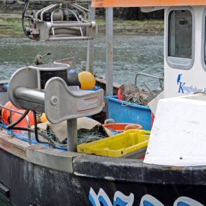 A Spencer Carter NHO-02 self-hauling netting winch is fitted to the Newlyn-based Go For It.