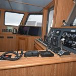 The aft-facing fishing console.