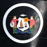 The fishing heritage of St Combs is proudly displayed on the stem crest of Achieve.