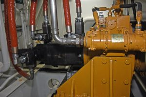 A full net retrieve system can be clutched in at the fore end of the main engine.
