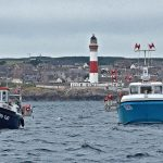 Starlite and Stately II fishing off Buchan Ness lighthouse.