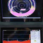 … as shown by the net sonar and sounder...