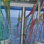 Starting to haul the wings of the Jackson Trawls 1,300m midwater net.