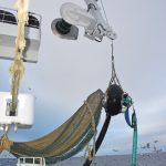 Using the gantry crane to recover the fishpump…