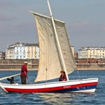 The foy coble Grace, built by Arthur MacDonald at Whitburn in 1990.