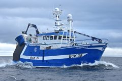 Caledonia III is the first boat to be built and fully completed at Buckie for a local skipper in 30 years.