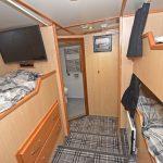 The skipper's three-berth en suite cabin.