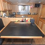 The messdeck and galley are arranged along the full length of the deckhouse to starboard.