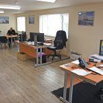 Macduff Shipyards' new open-plan office accommodation at Buckie.