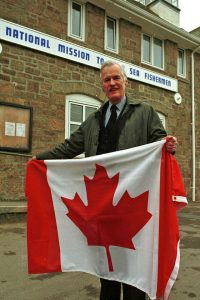 Conservative MP David Harris was a strong supporter of Mike Mahon's Canadian flag protest.