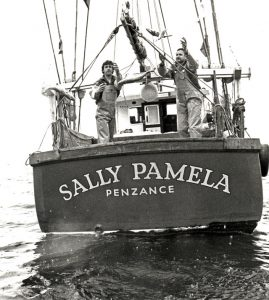 Dumping cod for the press. One of skipper Mick Faulkner's boats, the Sally Pamela, became a stage for publicising the senseless dumping of fish.
