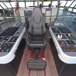 Midwater trawling operations are controlled from the fishing console.
