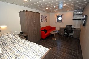 One of the 14 single-berth cabins on Serene.