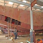 A 15m scalloper on schedule for Roger Klyne.