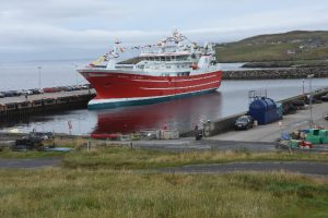 Serene berthed in Symbister harbour on Whalsay, where fishing is the lifeblood of the small island community.