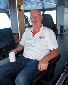 Skipper Bobby Polson.
