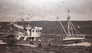 The 86ft open-decked purse-seiner Serene, built in 1969 at Flekkefjord...