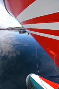 The forward view from the port mooring platform.