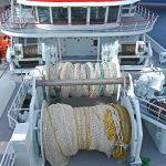 Two 111t net drums are positioned across the vessel's centreline in a low waterfall arrangement.