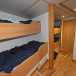 A four-berth cabin is situated on the port side.