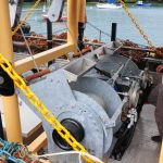 26. Controls for all winches are fitted within very easy reach of the trawl winch operator.
