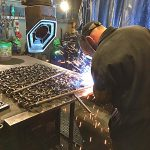 Welding chain bellies in DSM's Kirkcudbright factory.