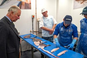 … where he watched 18-year-old Conrad Jack give an interactive demonstration of filleting monkfish.