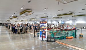 Peterhead fishmarket was transformed overnight to provide dining and seating for 500 invited guests.