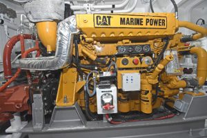 In addition to the C32 propulsion unit, Finning UK supplied the Caterpillar C12 variable-speed hydraulic engine...